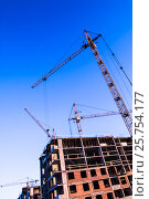 Строительство нового жилого дома. Стоковое фото, фотограф Сергеев Валерий / Фотобанк Лори