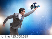 Купить «Businessman in start up business concept», фото № 25760589, снято 27 июня 2019 г. (c) Elnur / Фотобанк Лори