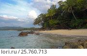 Купить «Beauty nature landscape with beach and sea», видеоролик № 25760713, снято 6 февраля 2017 г. (c) Михаил Коханчиков / Фотобанк Лори