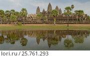 Купить «Angkor Wat temple in Siem Reap, Cambodia», видеоролик № 25761293, снято 7 декабря 2016 г. (c) Михаил Коханчиков / Фотобанк Лори