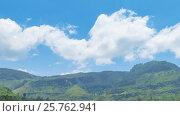 Купить «Mountain landscape with tea plantation, Sri Lanka», видеоролик № 25762941, снято 1 июня 2016 г. (c) Михаил Коханчиков / Фотобанк Лори