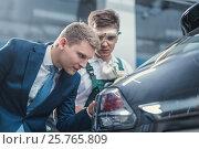 Купить «Car repair in garage», фото № 25765809, снято 10 ноября 2016 г. (c) Raev Denis / Фотобанк Лори