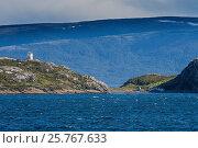 Купить «Lonely lighthouse in the Beagle Channel, Tierra del Fuego, Argentina, South America», фото № 25767633, снято 5 марта 2016 г. (c) age Fotostock / Фотобанк Лори