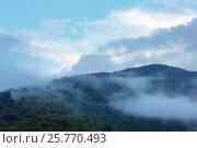 Купить «Evening mist in mountain», фото № 25770493, снято 29 июля 2016 г. (c) Юрий Брыкайло / Фотобанк Лори