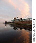 Купить «Соловецкий монастырь со стороны Святого озера», фото № 25772741, снято 6 августа 2016 г. (c) Заноза-Ру / Фотобанк Лори
