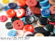 Купить «colorful sewing buttons», фото № 25777357, снято 29 сентября 2016 г. (c) Syda Productions / Фотобанк Лори