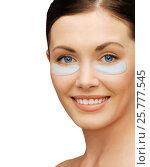 Купить «close up of woman face with under-eye patches», фото № 25777545, снято 6 января 2013 г. (c) Syda Productions / Фотобанк Лори