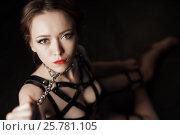 Купить «Dominatrix woman in bdsm fetish lingerie», фото № 25781105, снято 21 ноября 2016 г. (c) Гурьянов Андрей / Фотобанк Лори