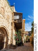 Средневековая улочка древнего Яффо, Тель-Авив, Израиль, фото № 25784377, снято 30 ноября 2015 г. (c) Наталья Волкова / Фотобанк Лори