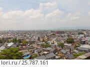 Вид бывшего города Маруока (ныне часть города Сакай), префектура Фукуи, Япония, с донжона замка Маруока, фото № 25787161, снято 3 августа 2016 г. (c) Иван Марчук / Фотобанк Лори
