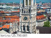 Купить «New Town Hall on Marienplatz square in Munich, Germany», фото № 25790681, снято 7 июня 2016 г. (c) Юрий Дмитриенко / Фотобанк Лори