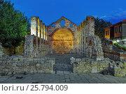 Купить «Руины церкви Святой Софии в Несебре вечером, Болгария», фото № 25794009, снято 22 сентября 2016 г. (c) Михаил Марковский / Фотобанк Лори