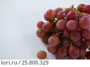 Купить «Close-up of red bunch of grapes», фото № 25800329, снято 19 декабря 2016 г. (c) Wavebreak Media / Фотобанк Лори