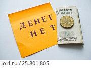 Купить «Денег нет», фото № 25801805, снято 21 марта 2017 г. (c) Sashenkov89 / Фотобанк Лори