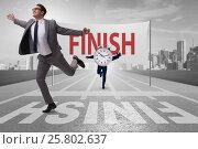 Купить «Businessman failing to meet the challenging deadlines», фото № 25802637, снято 23 июля 2019 г. (c) Elnur / Фотобанк Лори