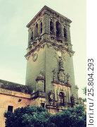 Bell tower of Basílica de Santa Maria de la Asuncion (2014 год). Стоковое фото, фотограф Яков Филимонов / Фотобанк Лори