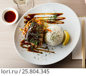 Купить «baked salmon in japanise style», фото № 25804345, снято 23 июля 2019 г. (c) Яков Филимонов / Фотобанк Лори