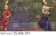 Купить «Khmer classical dancers Apsara Dance Cambodia», видеоролик № 25806701, снято 18 ноября 2016 г. (c) Михаил Коханчиков / Фотобанк Лори