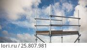 Купить «Composite image of digitally generated image of scaffolding 3d», фото № 25807981, снято 22 января 2020 г. (c) Wavebreak Media / Фотобанк Лори