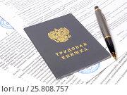 Трудовая книжка и договор. Стоковое фото, фотограф Всеволод Карулин / Фотобанк Лори