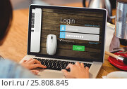 Купить «Composite image of close-up of login page», фото № 25808845, снято 19 августа 2018 г. (c) Wavebreak Media / Фотобанк Лори