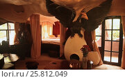 Купить «Hang Nga Guesthouse Crazy House, design Interior and Exterior landmark architecture Odd House», видеоролик № 25812049, снято 1 октября 2016 г. (c) Mikhail Davidovich / Фотобанк Лори