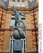 Купить «Памятник Юрию Гагарину. Гринвич, Великобритания», фото № 25815173, снято 16 августа 2015 г. (c) Ekaterina M / Фотобанк Лори