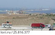 Construction of bridge across Kerch Strait (2016 год). Стоковое видео, видеограф Михаил Коханчиков / Фотобанк Лори
