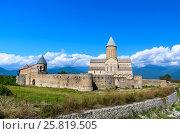 Купить «View of Alaverdi Monastery in the Alazani valley. Kakheti region. Georgia», фото № 25819505, снято 18 сентября 2016 г. (c) Elena Odareeva / Фотобанк Лори