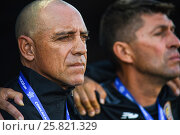 Купить «Costa Rica coach, Marcelo 'Popeye' Herrera. El Salvador defeated Costa Rica 0-1 in the 2017 CONCACAF Under-20 Championship at the Estadio Ricardo Saprissa...», фото № 25821329, снято 19 февраля 2017 г. (c) age Fotostock / Фотобанк Лори