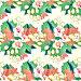 Бесшовный декоративный узор,  цветы, иллюстрация № 25824049 (c) Наталия Кузнецова / Фотобанк Лори