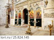 Купить «Иконостас в храме Монастыря Святого Креста (Иерусалим, Израиль)», эксклюзивное фото № 25824145, снято 16 мая 2014 г. (c) Александр Гаценко / Фотобанк Лори