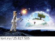 Купить «Dreaming to explore space . Mixed media», фото № 25827505, снято 8 февраля 2011 г. (c) Sergey Nivens / Фотобанк Лори