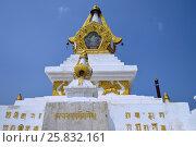 Купить «Улан-Батор. Буддийский монастырь Гандантекчинлинг (Гандан). Субурган», фото № 25832161, снято 12 июля 2016 г. (c) Светлана Федорова / Фотобанк Лори