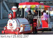 Детский паровозик (2017 год). Редакционное фото, фотограф Владимир Абакумов / Фотобанк Лори