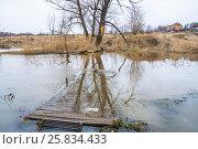 Купить «Разлив реки Сестры в Клину», фото № 25834433, снято 24 марта 2017 г. (c) Алёшина Оксана / Фотобанк Лори