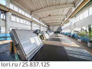 Купить «Building lattices, department mechanical grates sewage water treatment cleared of foreign objects and trash», фото № 25837125, снято 19 марта 2015 г. (c) Losevsky Pavel / Фотобанк Лори
