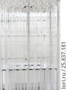 Купить «Unused special blocks comprising plurality of tubes, lamps emitting UV in range of 200-300 nm, fall into water, close-up», фото № 25837181, снято 19 марта 2015 г. (c) Losevsky Pavel / Фотобанк Лори