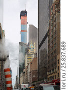 Купить «NEW YORK, USA - SEP 08, 2014: The tallest residential building on Park Avenue in New York City, view from the bottom point», фото № 25837689, снято 8 сентября 2014 г. (c) Losevsky Pavel / Фотобанк Лори