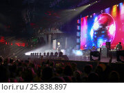 Купить «MOSCOW, RUSSIA - NOVEMBER 15, 2014: J-Power duet performs on stage at a party Diskach 90th in a club Space Moscow. J-Power - Russian pop group, founded in 2000», фото № 25838897, снято 15 ноября 2014 г. (c) Losevsky Pavel / Фотобанк Лори