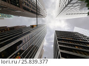 Купить «NEW YORK - August 23, 2014: Skyscrapers at W 46th st and 6th ave crossroads», фото № 25839377, снято 23 августа 2014 г. (c) Losevsky Pavel / Фотобанк Лори