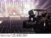 Tv camera in a concert hal. Professional digital video camera. Стоковое фото, фотограф Maxim Tarasyugin / Фотобанк Лори
