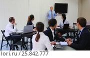 Купить «The clerk's office makes a report says», видеоролик № 25842777, снято 27 ноября 2016 г. (c) Яков Филимонов / Фотобанк Лори