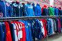 Мужские спортивные костюмы в магазине, фото № 25843893, снято 28 марта 2017 г. (c) Сергей Тагиров / Фотобанк Лори