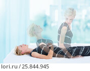 Купить «Woman Meditating astral projection out of body experience by window», фото № 25844945, снято 26 мая 2018 г. (c) Wavebreak Media / Фотобанк Лори