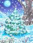 Зимний ночной пейзаж, иллюстрация № 25855137 (c) Анастасия Сердюкова / Фотобанк Лори