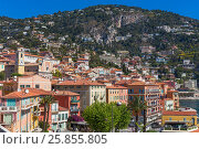 Купить «Villefranche-sur-Mer, Alpes-Maritimes department, Provence-Alpes-Cote d'Azur, French Riviera, France.», фото № 25855805, снято 4 мая 2016 г. (c) age Fotostock / Фотобанк Лори