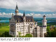 Купить «Famous fairy tale Castle in Bavaria, Neuschwanstein, Germany», фото № 25857697, снято 6 июня 2016 г. (c) Юрий Дмитриенко / Фотобанк Лори