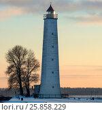 Купить «Деревянный маяк на Петровском канале в Кронштадте», фото № 25858229, снято 29 февраля 2016 г. (c) Александр Иванов / Фотобанк Лори