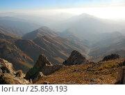 Купить «Рассвет в долине гор Тянь Шаня с рекой», фото № 25859193, снято 25 сентября 2007 г. (c) Elizaveta Kharicheva / Фотобанк Лори
